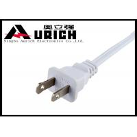 2 Pin Polarized AC UL Power Cord With 2x18awg , Small Appliance Power Cord