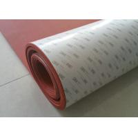 Quality High Temperature Resistant Red Silicone Rubber Sheet with Backing 3m Adhesive wholesale