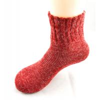 Quality Customized Soft 72 Needles Modeled Rabbit Hair Women's Red Terry Loop Socks,  Function socks wholesale