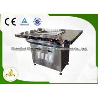Best Stainless Steel Electric Self Service Mini Teppanyaki Table Grill Down Exhaustion for Restaurant Hotel wholesale