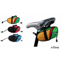 Outdoor Cycling Mountain Bike Bicycle Saddle Bag Back Seat Tail Pouch Package Black/Green