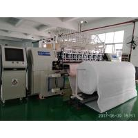 High speed computerized shuttle stitch multi needle quilting machine