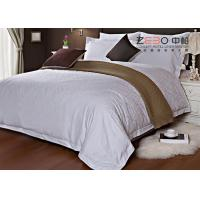 Quality Ripple Satin Design Hotel White Bed Linen 100 Cotton OEM / ODM Available wholesale