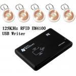 Access USB 125KHZ EM ID RFID Proximity Card Reader Connect PC For EM4100/4200