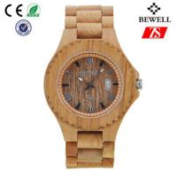 Quality Old Annatto Wooden Wrist Watch With Japan Quartz Movement , ROHS FSC Standard wholesale