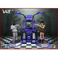 Quality 110 / 220V double seater VR interactive simulator with abundent immesive game wholesale