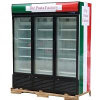 Quality 3 Doors Automatic Defrost Upright Commercial Display Freezer -25°C Fan Cooling Swing Door wholesale