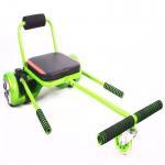 Green Adjustable Seat Hoverboard Go Kart With Max Loading 150KG , Elastic Belt For Fixation