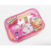 Quality Cute & Lovely Girl Pink Vinyl Zipper Pouches , Non-toxic Clear Plastic Makeup Bag wholesale