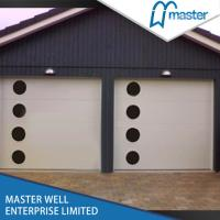 Quality Small Window Sectional Overhead Garage Door  0.35mm Steel Residential Use wholesale