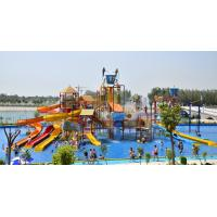 Quality Sea Style Water Playground Equipment Fiberglass Water Slides For Amusement Park wholesale