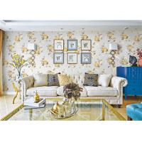 Quality Removable Indoor Non Woven Wallcovering For Bedroom Walls , Flower Design wholesale