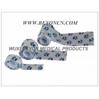 Best Printed Cohesive Elastic Bandage Paw Prints Vet Wrap  Fix Dressing Cold Hot Packs wholesale