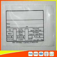 Quality Custom Printed Plastic Medical Ziplock Bags Reclosable Waterproof Non Poisonous wholesale