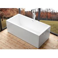 Quality Deep Soaking Rectangle Acrylic Free Standing Bathtub With Overflow Space Saving wholesale
