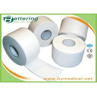 Best Cotton White Athletic Tape For Trainers Strapping , Adhesive Sports Wrap Tape wholesale