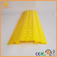 Best 2 Ways Floor Cable Protector Ramp Light Duty Plastic Yellow Jacket Cord Cover wholesale