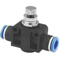 One Way Pneumatic Flow Control Valves For Connecting To Male Plug In Connections