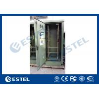 Quality 19 Inch Double Wall Green Outdoor Telecom Cabinet For Wireless Communication Base Station wholesale