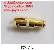 High quality gold plated MCX plug streight crimp coaxial connector for antenna MCX-J-A