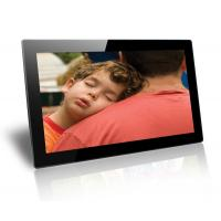 Quality Black 18.5 Inch Baby / Friends Wall Mounted Digital Photo Frame Supports SD / MMC Cards wholesale