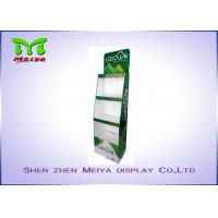 Quality 3 Tiers Green color custom cardboard displays shelf  for LED bulbs wholesale