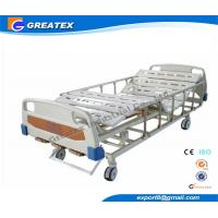 3 - Function Adjustable Manual Hospital Bed with Wheels for Patient Home Use