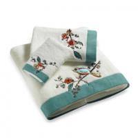 nice design embroidery bath towel set