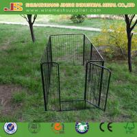 Quality 6'H x 4'W x 8'L Black Powder Coated Welded Wire Mesh Dog Kennel/Dog Cage wholesale