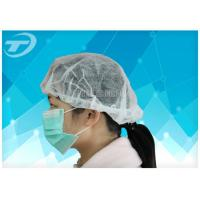 Quality Blue Disposable Surgical Caps PP SMS For Doctor With Ties At Back 61*14cm wholesale