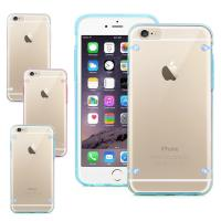 Transparent Clear Smartphone Protective Case For iPhone 6 6S With 4 PointsBack Cover