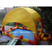 Quality 0.9mm PVC Inflatable swimming pool / Inflatable Water Pools with pillar and net wholesale