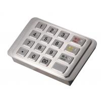 Quality IP65 Dust-free Stainless Encrypting Keypad PCI EPP With Remote Key Loading ( RKL ) wholesale