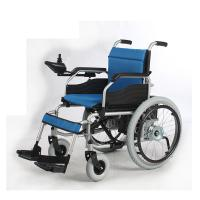 Simple 22 Inch Portable Electric Wheelchair Foldable Lightweight With Hand Drim