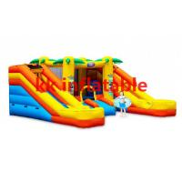 Quality Double Jumping Castles Thomas Train Inflatable Bouncer / Inflatable Jumping Bouncer wholesale