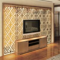 Modern design high quality metal decorative room screen TV background wall screen price