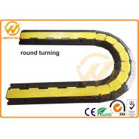 Best Yellow / Black 2 Channel Rubber Corner Guard Rubber Cable Protection Ramps For Event wholesale