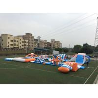 Buy cheap PVC Tarpaulin Inflatable Obstacle Water Park Inflatable Sport Games 37M * 22M from wholesalers