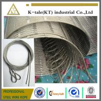 304 Hand-woven Stainless Steel Wire Rope Mesh for stair frames
