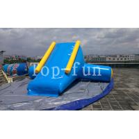 Best U / V Shape 0.9mm PVC Tarpaulin Inflatable Big Air Slide For Water Yelow / Blue wholesale