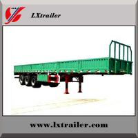Best 60Tons flatbed side wall open tri-axle light cargo truck trailer/vehicle for sale wholesale