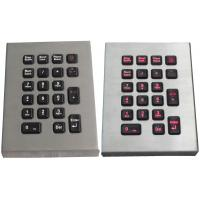 IP65 21 key marine keyboard , stainless steel keyboard with red backlight