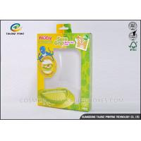 Quality Green / Yellow Foldable Gift Boxes Eco Friendly PVC Window For Children Bowl wholesale