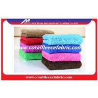 Quality Antique Military Coral Poly Fleece Fabric With Nonwoven / Knitted Technics wholesale