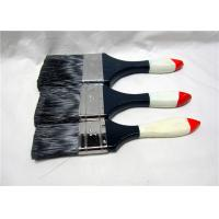 Black Bristle Flat House Paint Brushes With Lacquered Wooden Handle