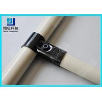 Quality Adjustable Metal Joint for Pipe Rack , Thickness 23mm  T-Type Black Tubing Joint HJ-1 wholesale