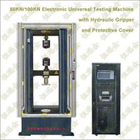 Quality Electronic Universal Testing Machine with Hydraulic Pressure Gripper and  Protective Cover wholesale