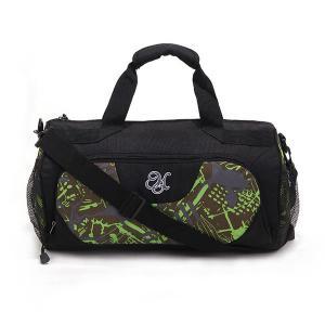 Black Mens Weekend Travel Bag With Removable Shoulder Strap , Gymnastics Bag