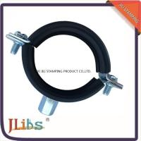 Rubber Heavy duty Cast Iron pipe clamp With M8+M10 Combi Nut & Rubber