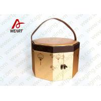 Cheap Long Handled Decorative Gable Boxes , Christmas Cardboard Boxes With Lids ODM for sale